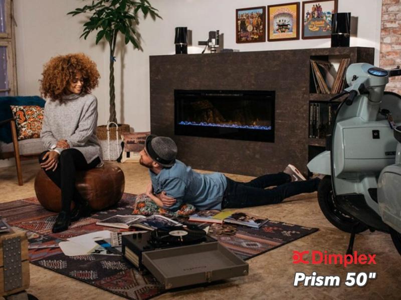 Dimplex Prism 50 - 128cm elektrische LED inbouwhaard