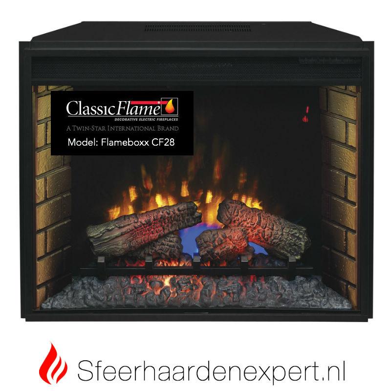 Classicflame CF28 elektrische LED inbouw sfeerhaard 74 x 58,5 cm