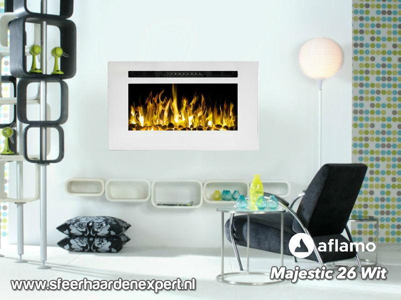 Aflamo Majestic 66cm wit - Elektrische wandhaard
