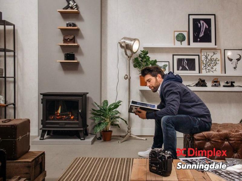 Faber Dimplex Sunningdale - Vrijstaande elektrische sfeerhaard met kachel