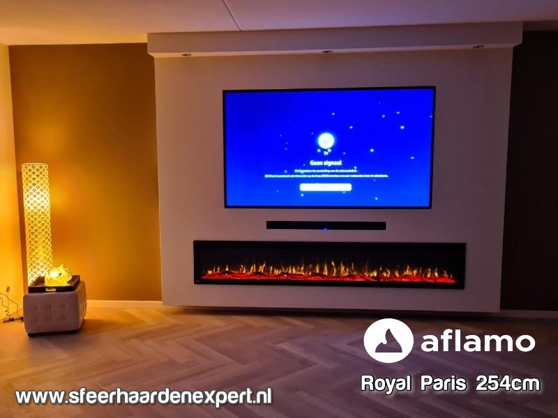 Aflamo RoyalParis 254cm breed Elektrische inbouw haard
