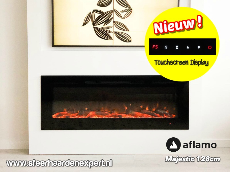 Aflamo Majestic Black Edition - elektrische cinewall haard