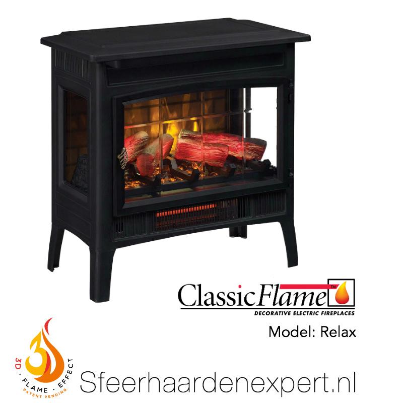 Classicflame Relax - Vrijstaande elektrische sfeerhaard met verwarming