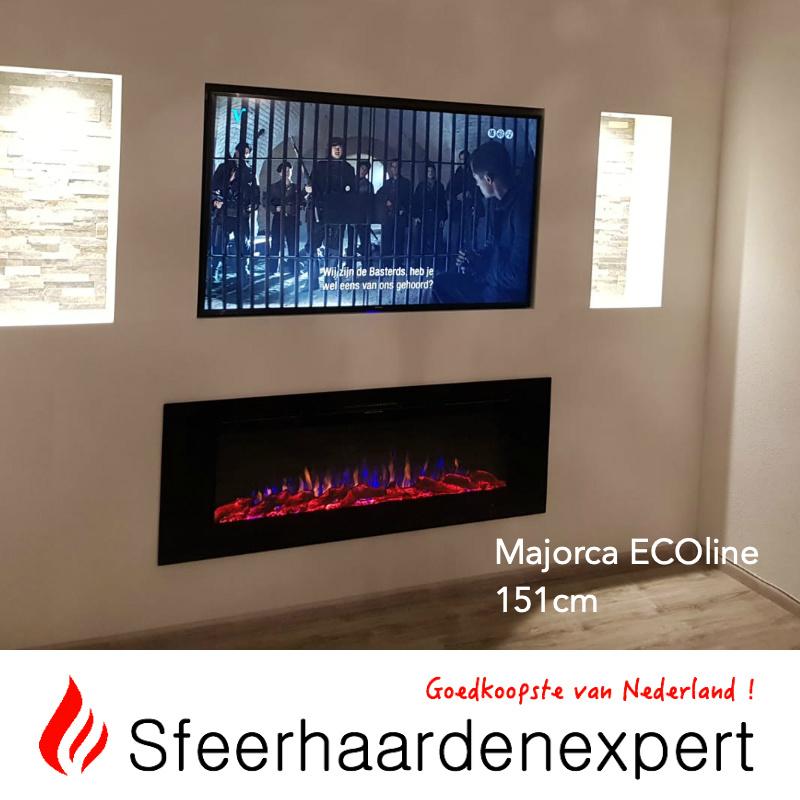e-Fire Majorca ECOline 151cm - Elektrische sfeerhaard inbouw