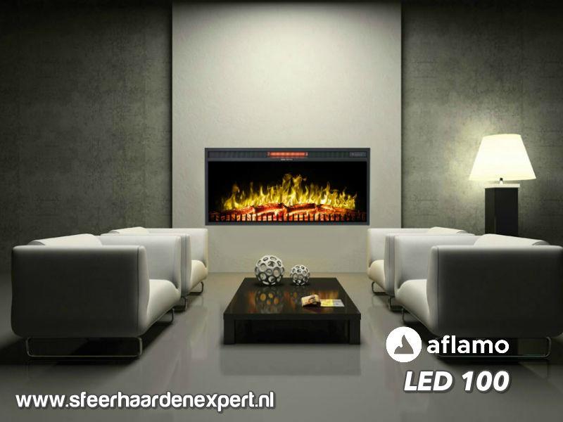 Aflamo LED100 - Elektrische LED inbouw wandhaard