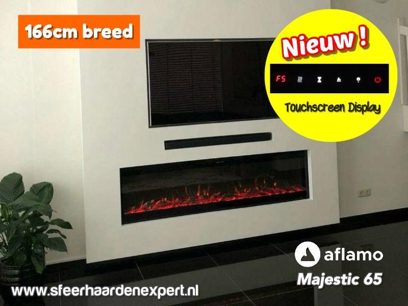 Aflamo Majestic Black Edition - elektrische cinewall haard 166cm