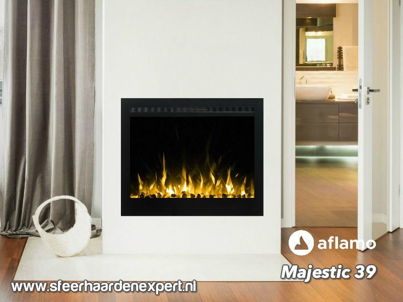 Aflamo Majestic 77cm breed - Elektrische inbouw sfeerhaard