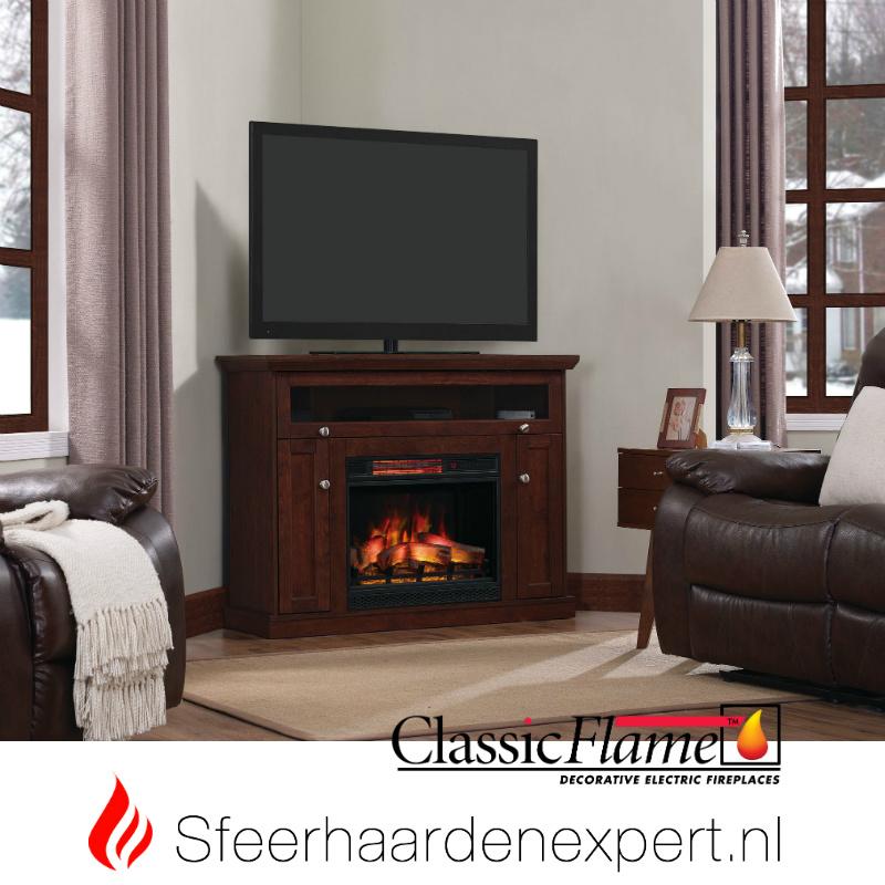 Tv Kast Kersenkleur.Classic Flame Elektrische Sfeerhaard Met Schouw Windsor Kersen