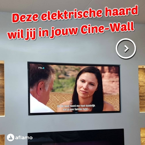 Deze elektrische haard zoekt een Cinewall