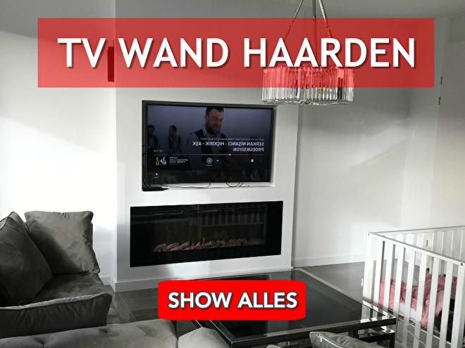 tv wand; televisie boven haard; inbouw haarden