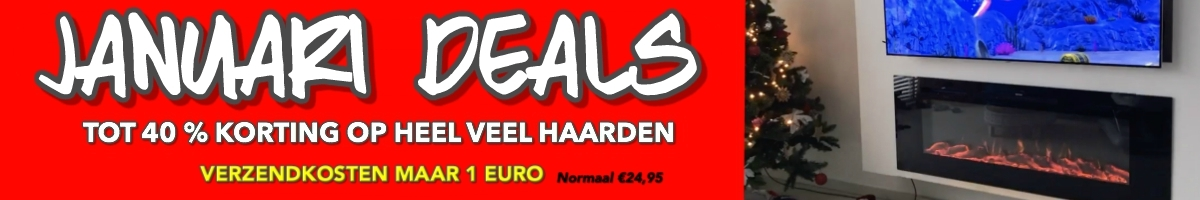 uitverkoop elektrische sfeerhaard sale korting deals