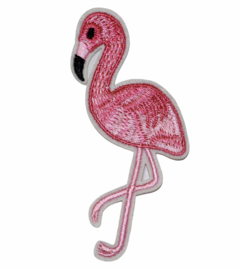 Applicatie flamingo 9,9x5,4 cm