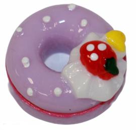 Flatback donut lila 17 x 17 mm