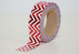 Masking tape shiny red-white chevron