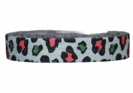 Elastisch band panter color 16 mm per 0,5 meter