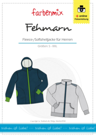 Farbenmix naaipatroon Fehmarn, heren fleece softshell jack S-XXL