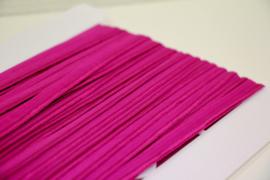 Elastisch paspelband glans/mat roze-paars per meter