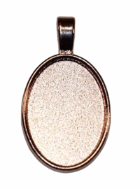 Cabochon setting 18x25 mm kleur rose gold