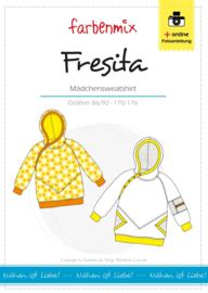 Farbenmix papier patroon meidensweater Fresita 86/92 -170/176