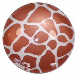 Glas cabochon 25mm: Giraffe