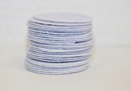 Rond viltje wit 40 mm, per stuk