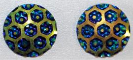 Flatback blauw blauw 12 mm