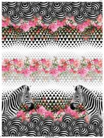 Paneel digitale tricot dames: zebra 200x150 cm