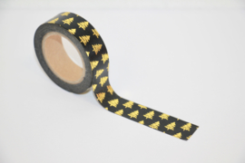 Masking tape Christmas tree black/gold