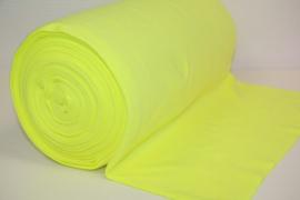 Neon gele boordstof. Rondgebreid 35 cm. Per 25 cm