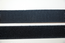 Klittenband 25 mm marineblauw per 0,5 meter