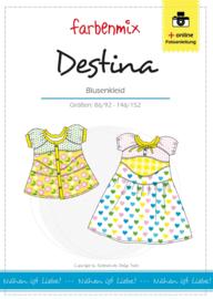 Farbenmix papier patroon blousejurk Destina  86/92 -146/152