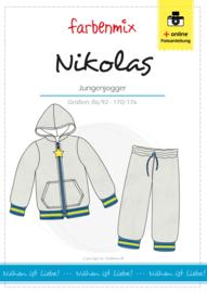 Farbenmix papier patroon Nikolas, jongens joggingpak 86/92-170/176