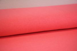 Neon koraal- roze tricot gemeleerd per 25 cm