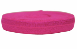 Elastisch band shocking pink 16 mm per 0,5 meter