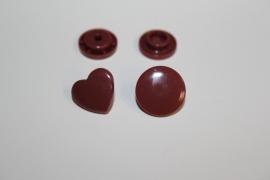 Kam snap HART rood bruin glanzend per 5 stuks