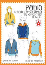 Farbenmix naaipatroon Pablo, raglanvest--shirt maat 86-164.