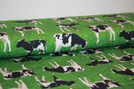 Digitale print tricot: Cows, per 25 cm