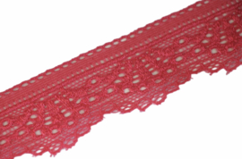 Zalmroze elastisch kant 30 mm, per 0,5 meter