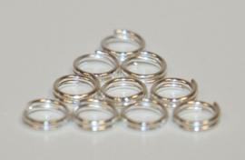 Dubbel rings 5 mm /open jump rings per 10 stuks