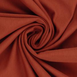 Boordstof: Steenrood (Swafing kleur 425) Rondgebreid 48 cm. Per 25 cm