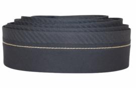 Herenbroekband zwart met anti-slip, per 0,5 m