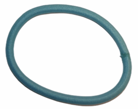 Haarelastiekje lichtblauw +/- 45 mm, dikte 4mm