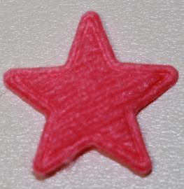 Applicatie ster vilt mini 15mm roze, per 5