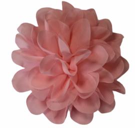 Stoffen bloem 10 cm zachtroze