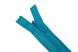 Blinde rits 22,5 cm aquablauw