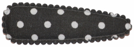 kniphoesje katoen zwart met witte stip 5 cm