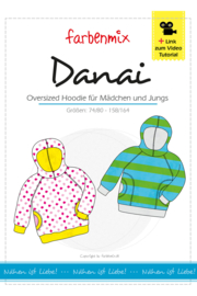 Farbenmix papier patroon Danai maat 74/80 - 158/164