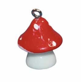 Paddestoel 3D 20x15 mm rood-wit, per stuk