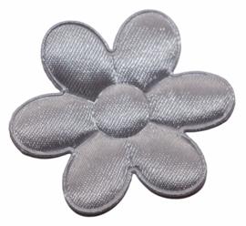 Bloem applicatie 45 mm effen grijs satijn  per 5 stuks