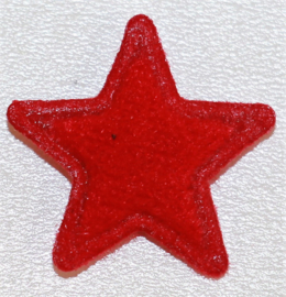 Applicatie ster vilt mini 15mm rood, per 5